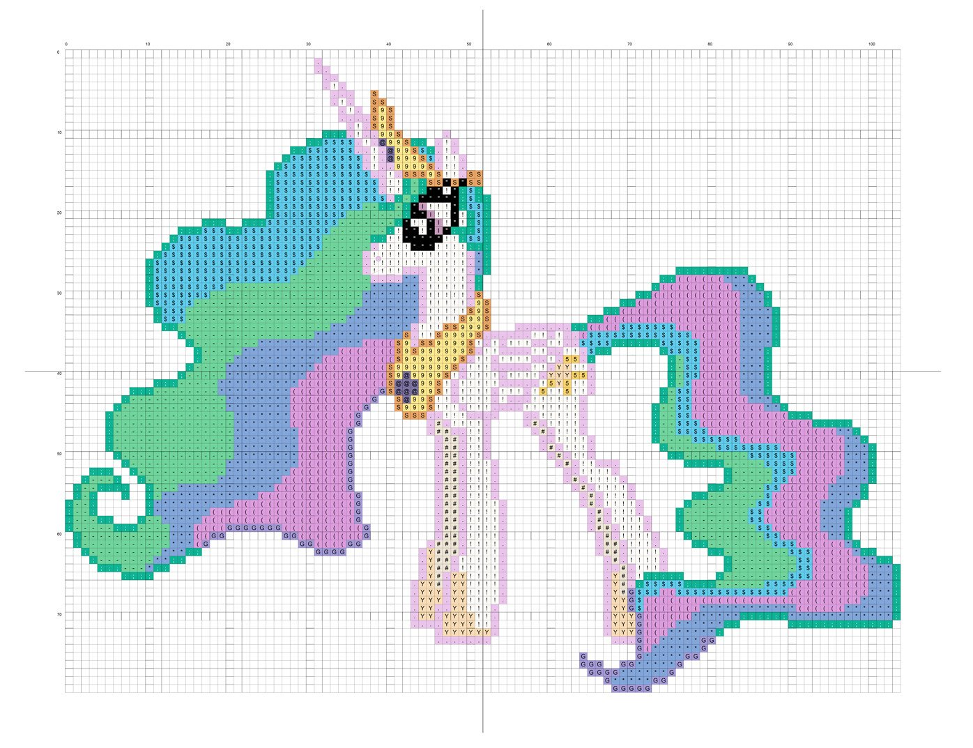 Mlp Pixel Art Template Mlp Friendship is Magic Princess Celestia