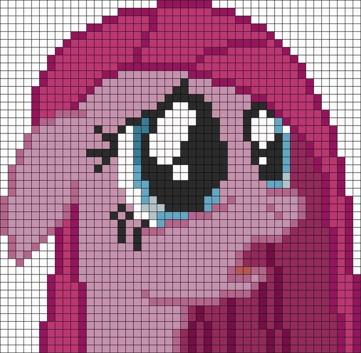 Mlp Pixel Art Template Mlp Pinkamena Perler Bead Pattern