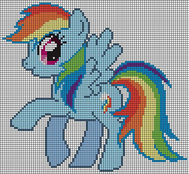 Mlp Pixel Art Template Rainbow Dash Pattern by Jackiekie On Deviantart