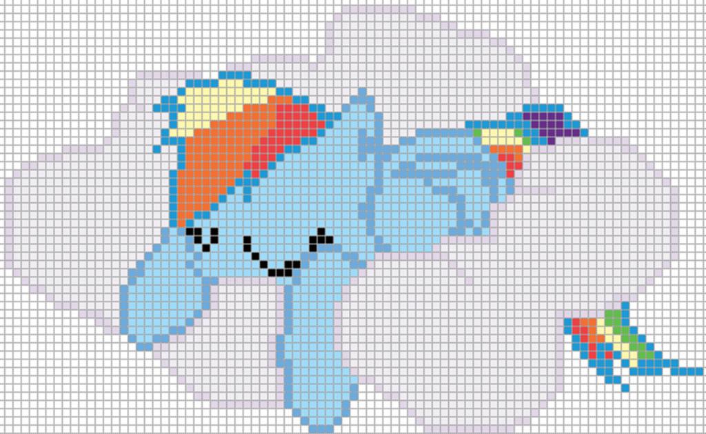 Mlp Pixel Art Template Rainbow Dash Sleeping Pixel Art Template by Mlp