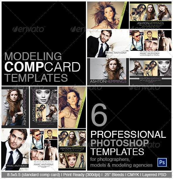 Model Comp Card Template Model P Card Shop Template On Behance