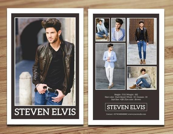 Model Comp Card Template Model P Card Template Modeling P Card Fashion Card