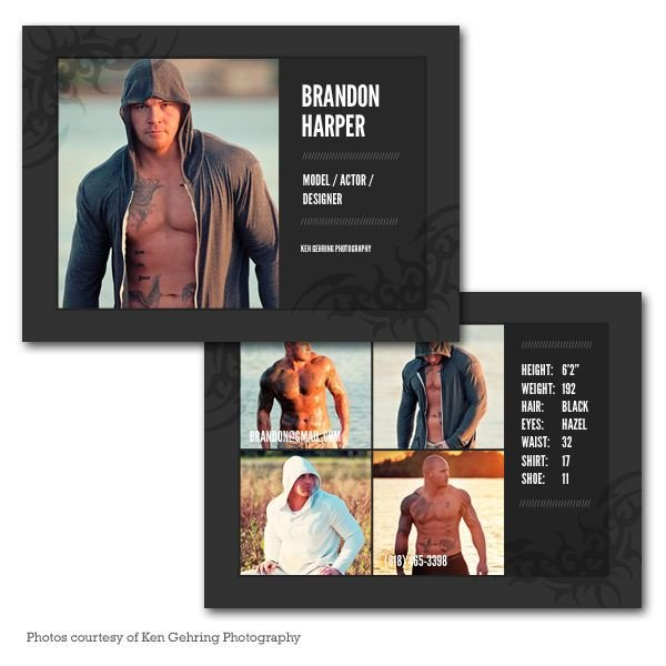 Model Comp Card Template Model P Card Template My Graphy