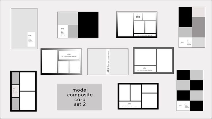 Model Comp Card Template Model P Card Templates