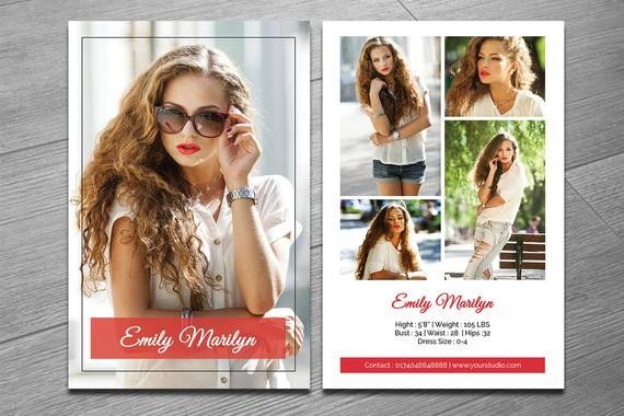 Model Comp Card Template Modeling P Card Template Fashion Model P Card Ms