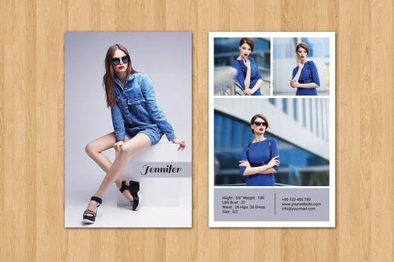 Model Comp Card Template Modeling P Card Template Fashion Model P Card