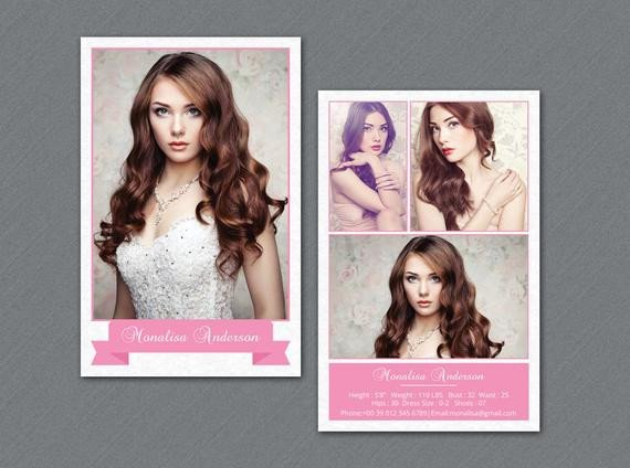 Model Comp Card Template Modeling P Card Template Model P Card Shop