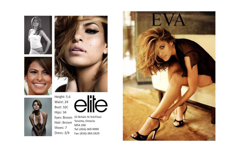 Model Comp Card Template Nicole Camposeo S Portfolio Eva Mendes P Card