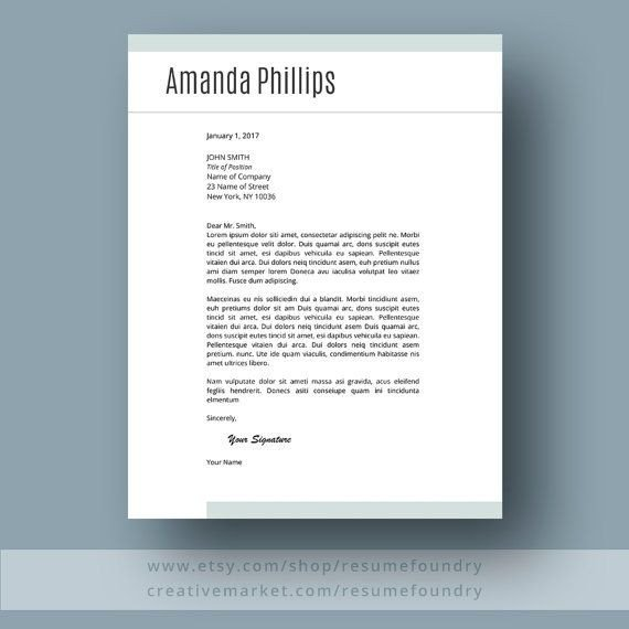 Modern Cover Letter Template 17 Best Ideas About Modern Resume Template On Pinterest