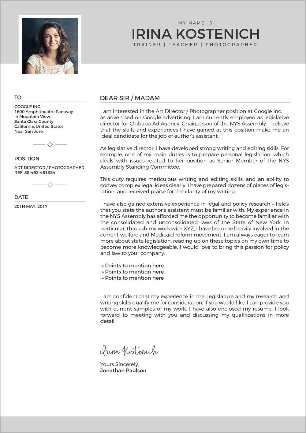 Modern Cover Letter Template Free Modern Cv Template Cover Letter & Portfolio Design