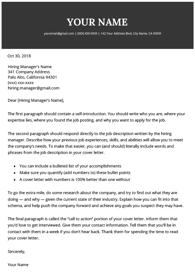 Modern Cover Letter Template Modern Cover Letter Templates Free to Download