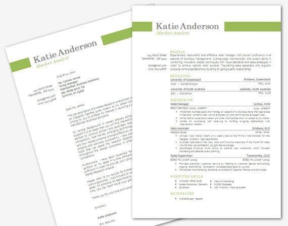 Modern Cover Letter Template Modern Microsoft Word Resume and Cover Letter Template by