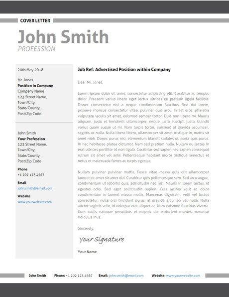 Modern Cover Letter Template Modern Resume Template Cover Letter Portfolio