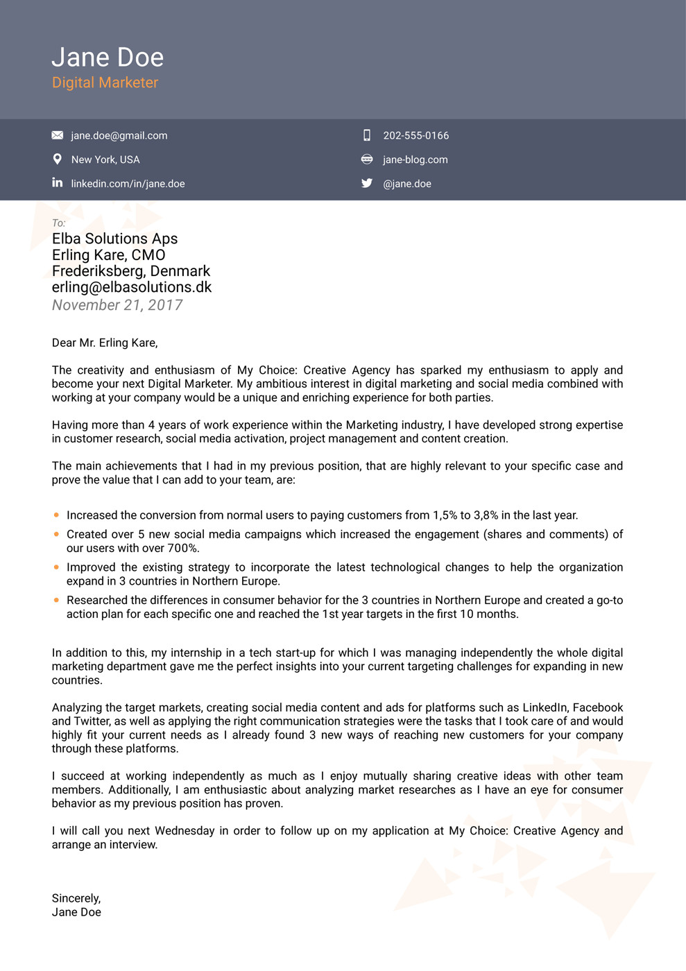 Modern Cover Letter Templates 8 Cover Letter Templates for 2019 [that Hr Will Love ]