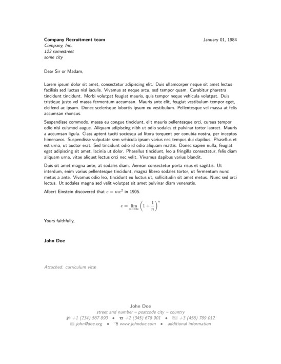 Modern Cover Letter Templates Covering Letter Example January 2016