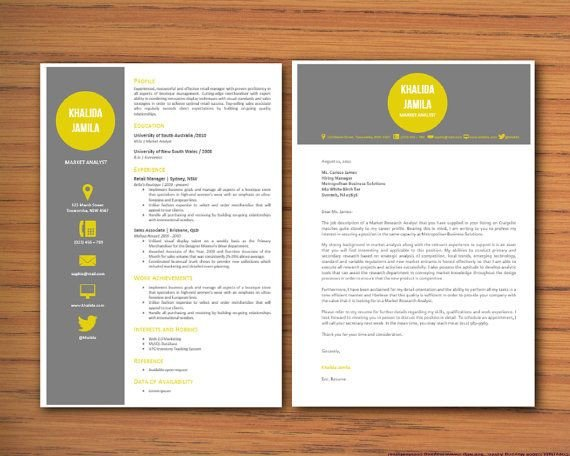 Modern Cover Letter Templates Modern Microsoft Word Resume and Cover Letter Template