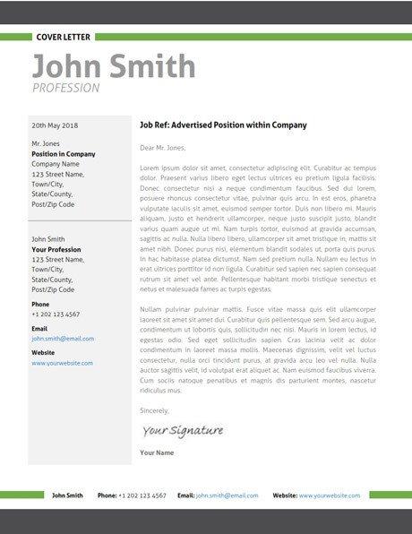 Modern Cover Letter Templates Modern Resume Template Cover Letter Portfolio