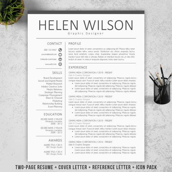 Modern Cover Letter Templates Modern Resume Template Cv Template Cover Letter
