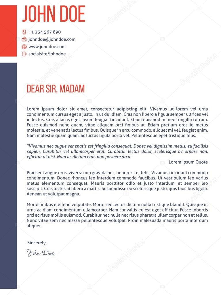 Modern Cover Letter Templates Simplistic yet Modern Cover Letter Cv Resume Template