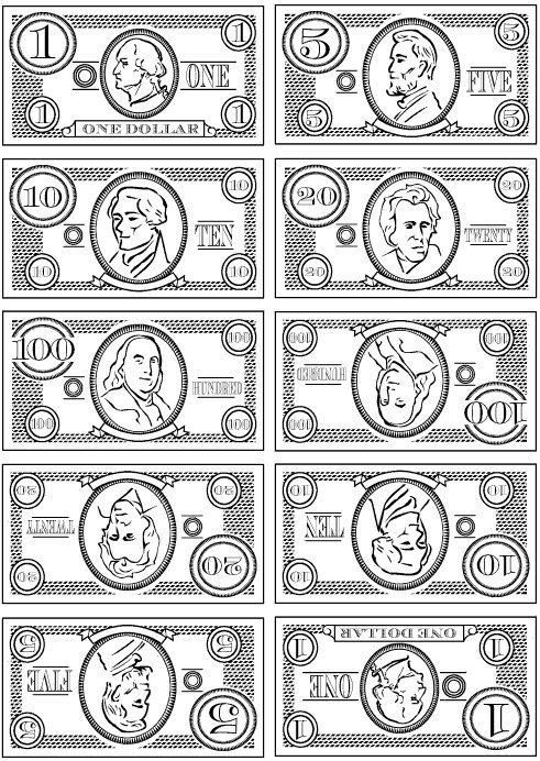Monopoly Money Black and White Inspiration Printable Play Money Black and White for the
