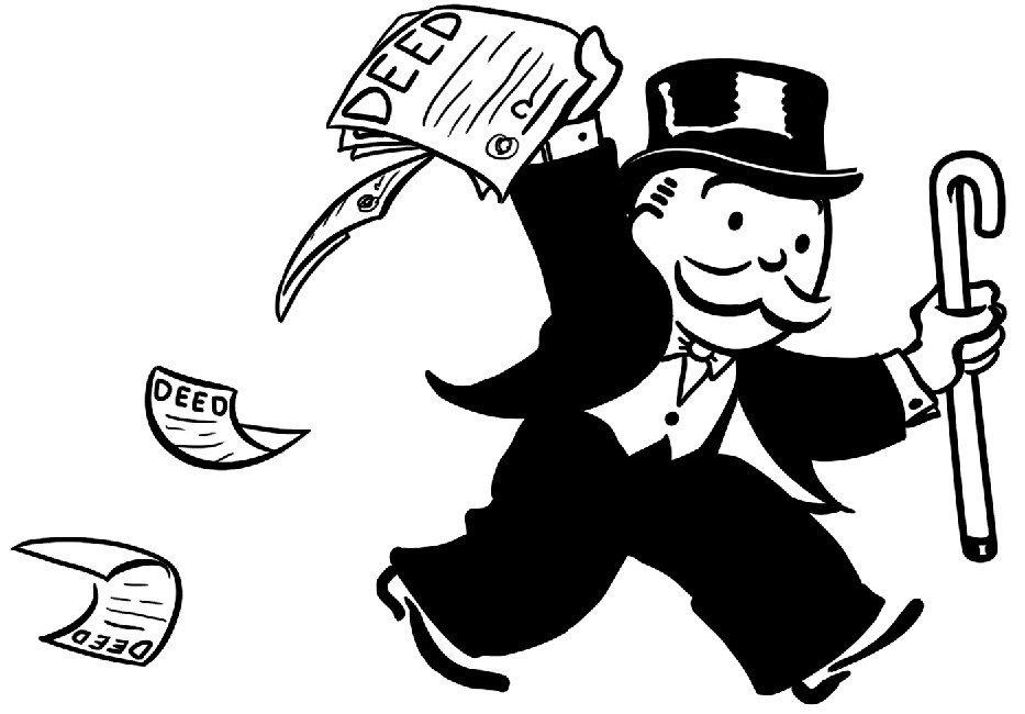 Monopoly Money Black and White Monopoly Man Clipart Black and White Clipground