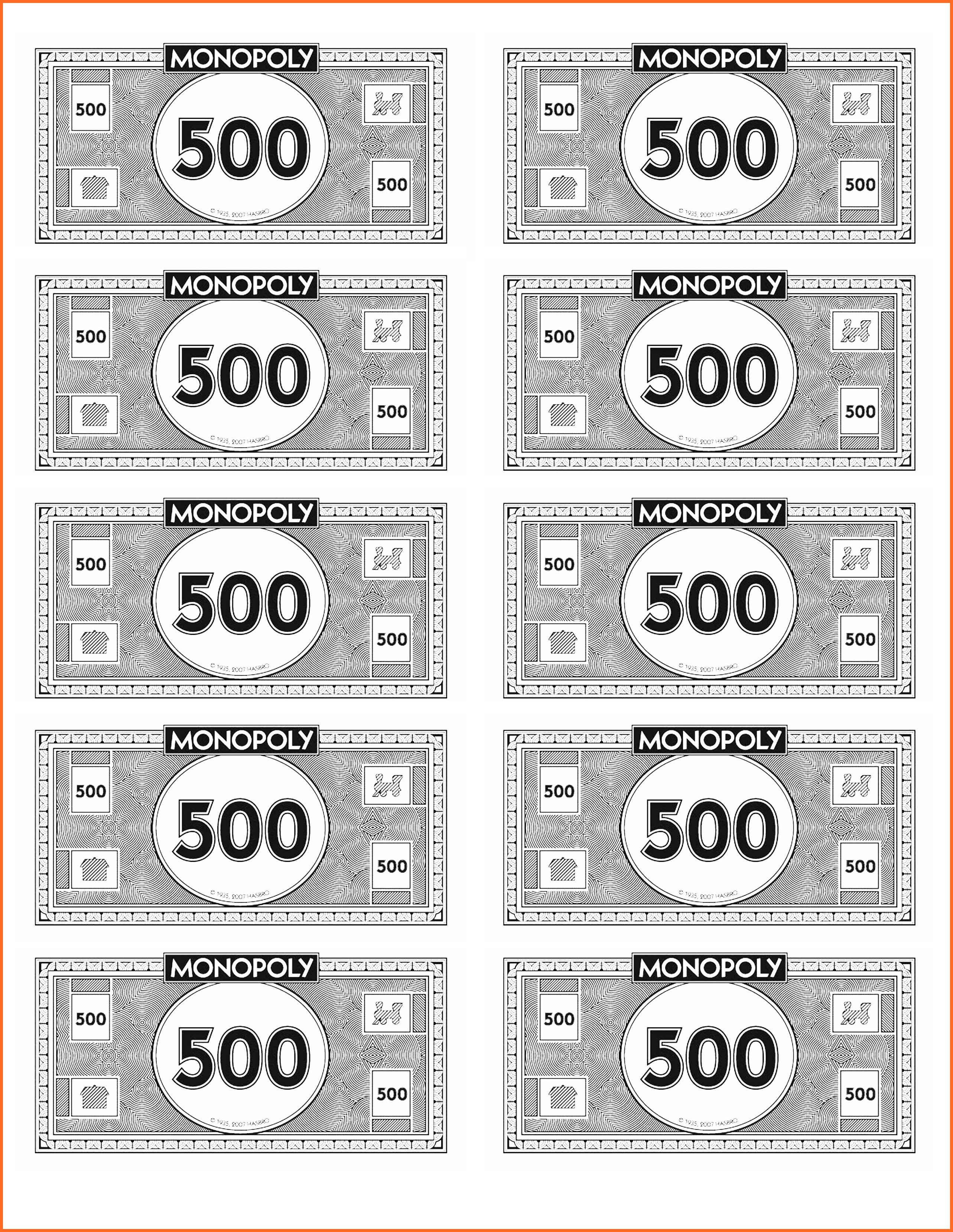Monopoly Money Black and White Printable Monopoly Money Printable 360 Degree