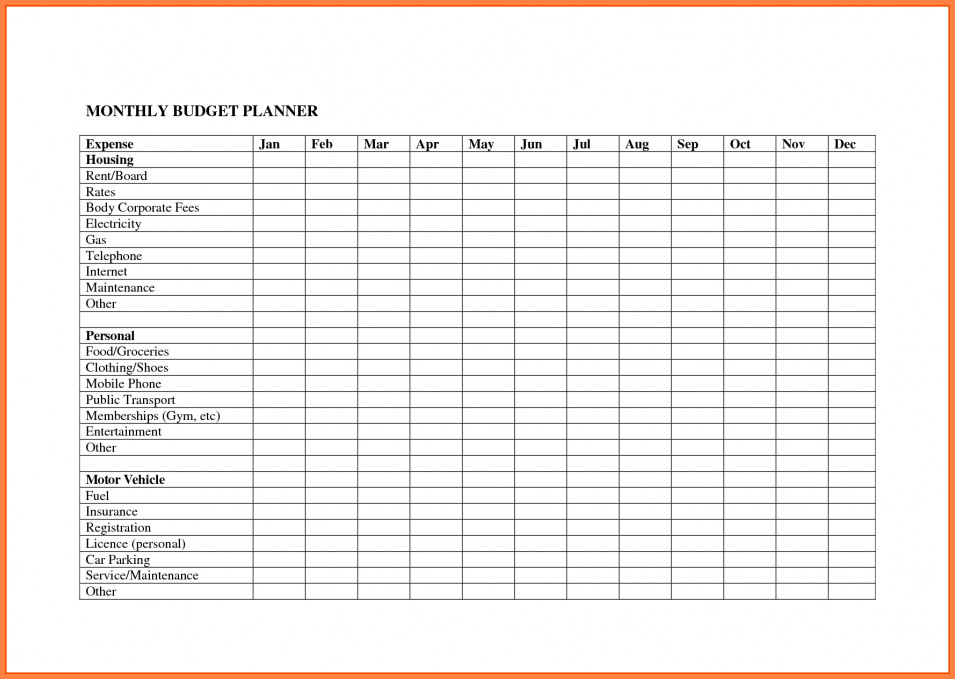 Monthly Business Expense Template 8 Monthly Expenses Spreadsheet Template