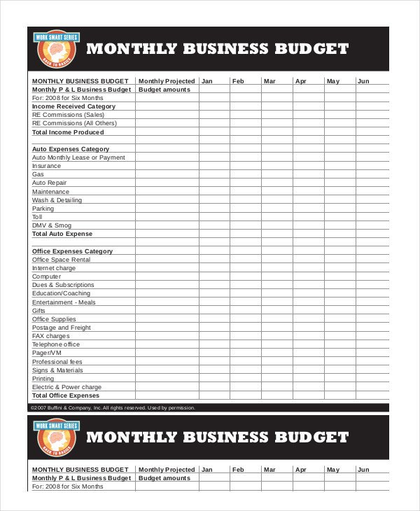 Monthly Business Expense Template Printable Monthly Bud Template 21 Free Excel Pdf