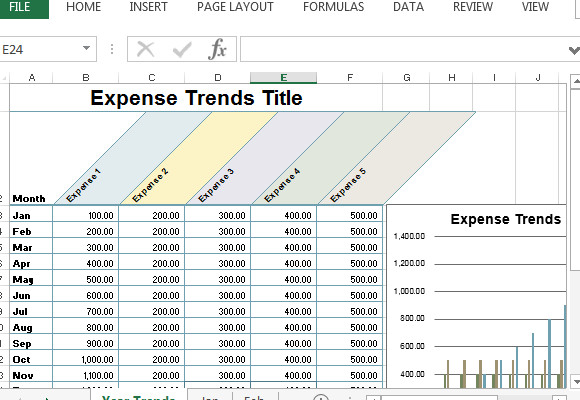 Monthly Business Expense Template Small Business Expense Sheet for Excel