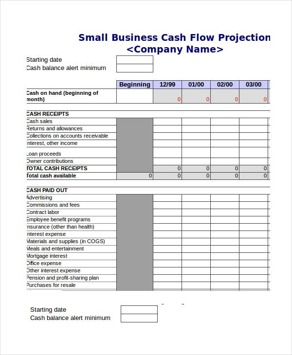 Monthly Cash Flow Template Cash Flow Excel Template 13 Free Excels Download