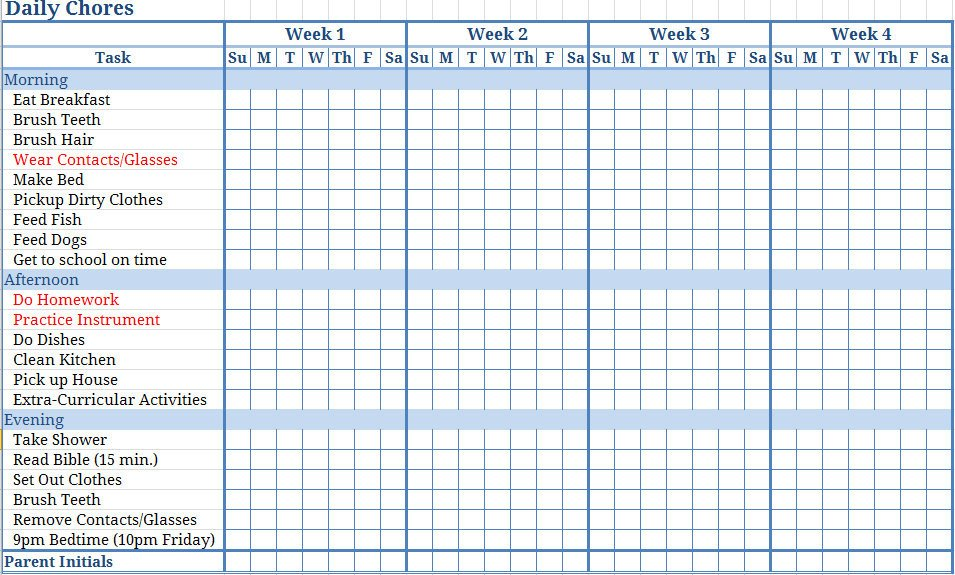 Monthly Chore Chart Template Jill Samter Moms why are You so Against Me