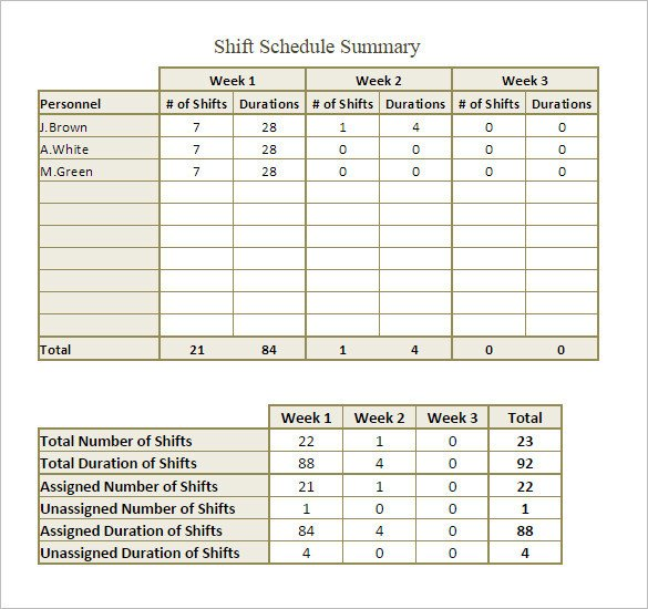 Monthly Employee Schedule Template Excel Shift Schedule Template 20 Free Word Excel Pdf format