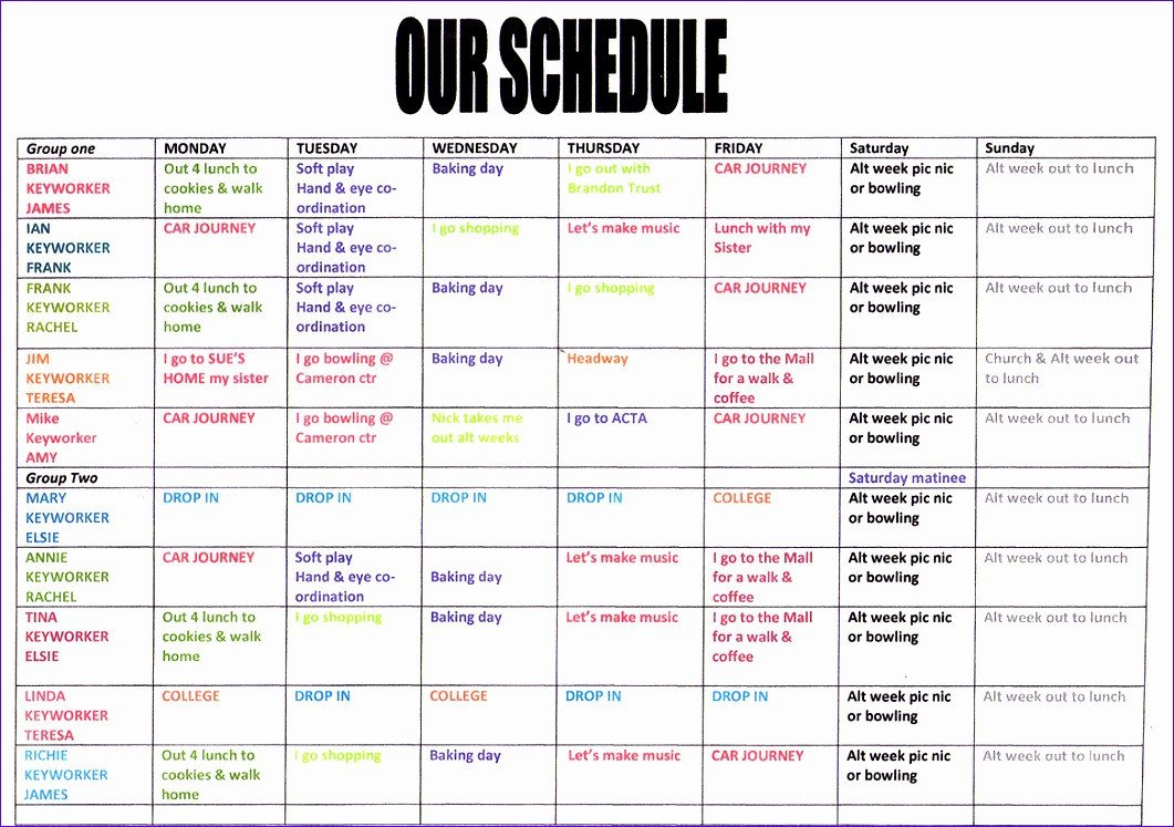 Monthly Schedule Template Excel 6 Excel Monthly Schedule Template Exceltemplates
