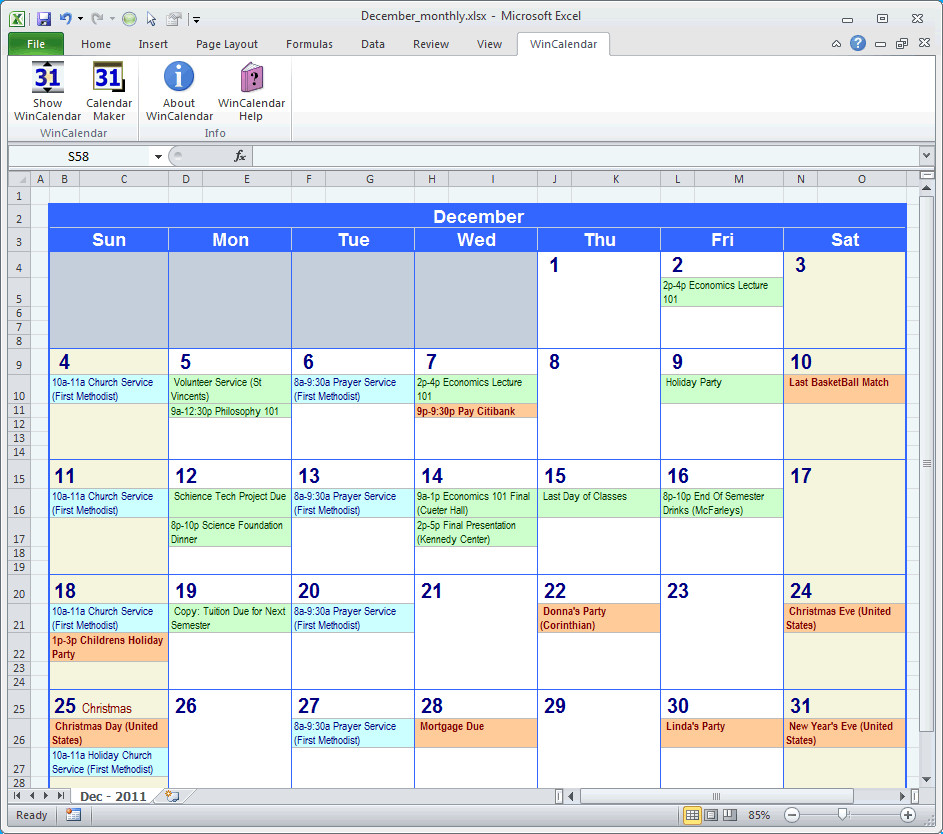 Monthly Schedule Template Excel Calendar Maker & Calendar Creator for Word and Excel