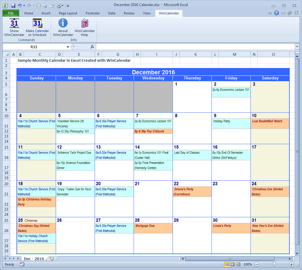 Monthly Schedule Template Excel Wincalendar Excel Calendar Creator with Holidays