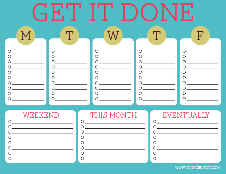 Monthly to Do List Template organization and Time Management Part 2 Make A to Do List