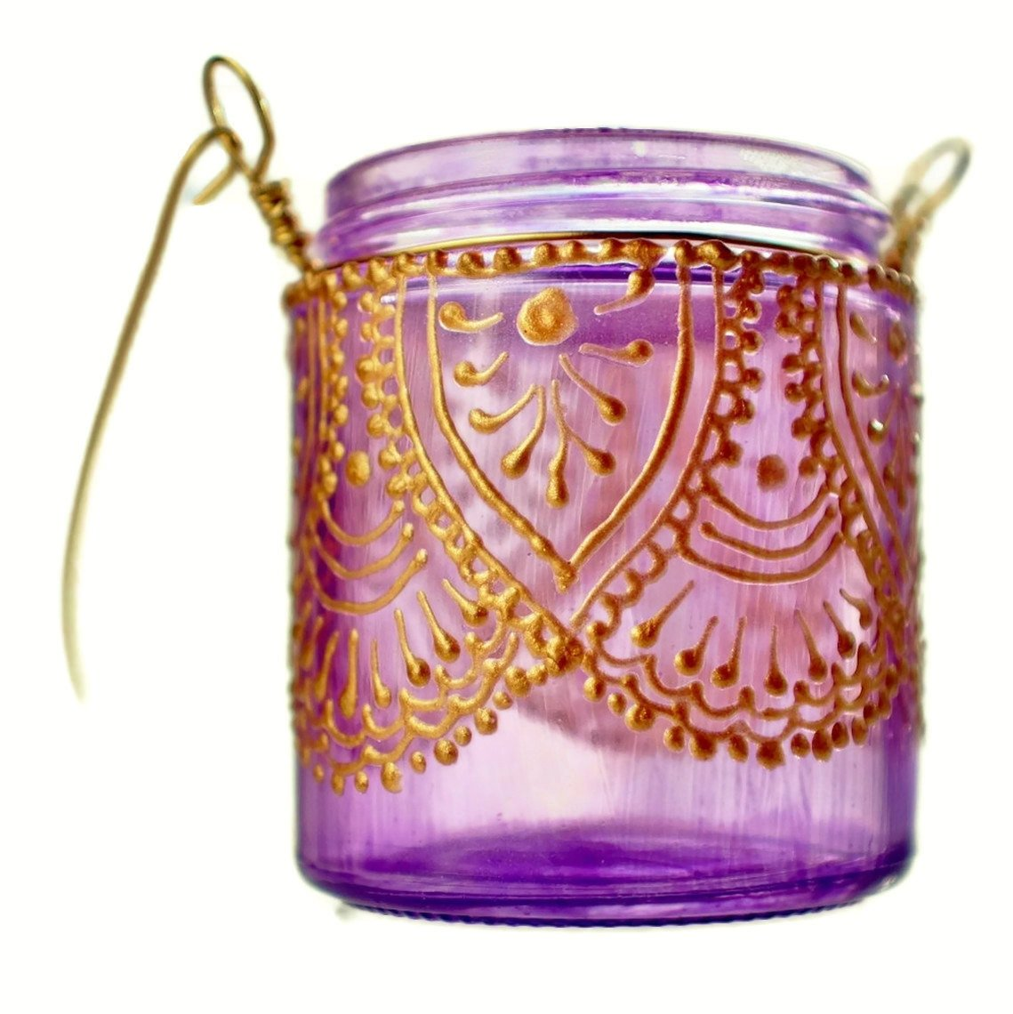 Moroccan Paper Lanterns Hanging Candle Holder Inspired by Moroccan Lanterns Lavender