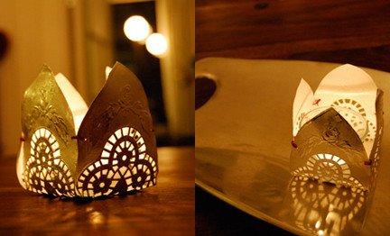 Moroccan Paper Lanterns Moroccan Inspired Paper Doily Lantern