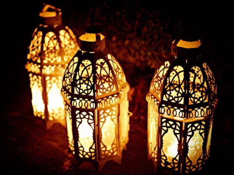 Moroccan Paper Lanterns Space Decorations Gold Moroccan Lantern Wedding Gold