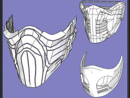 Mortal Kombat Mask Template 3 Mortal Kombat Mask Papercrafts Free Templates Download