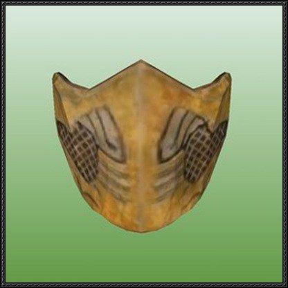 Mortal Kombat Mask Template Mask