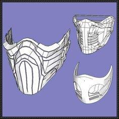 Mortal Kombat Mask Template Mortal Kombat X Scorpion Mask Papercraft Ver 5 Free