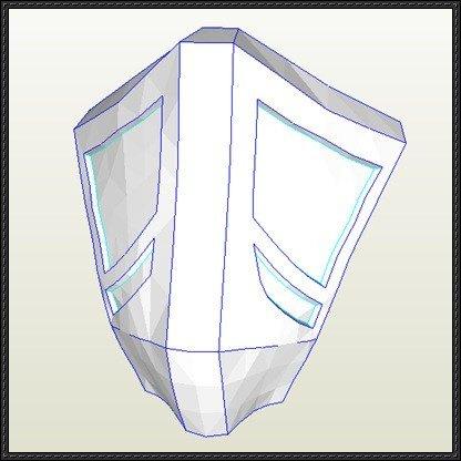 Mortal Kombat Mask Template [new Paper Craft] Mortal Kombat 9 – Ermac Mask Papercraft