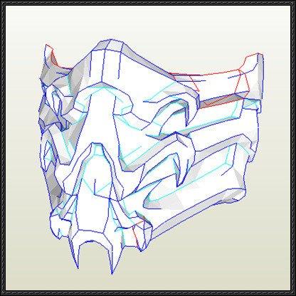 Mortal Kombat Mask Template [new Paper Craft] Mortal Kombat 9 – Scorpion Mask