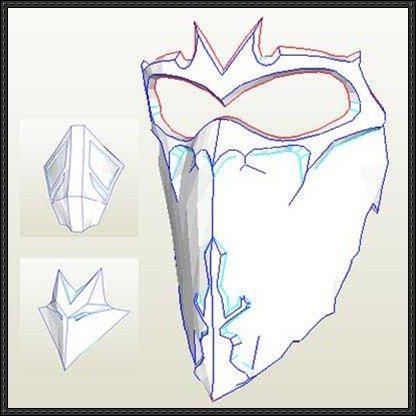 Mortal Kombat Mask Template [new Paper Craft] Three Mortal Kombat 9 Mask Papercrafts
