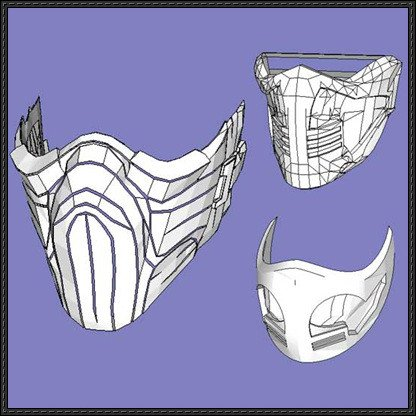 Mortal Kombat Mask Template Papercraftsquare New Paper Craft 3 Mortal Kombat