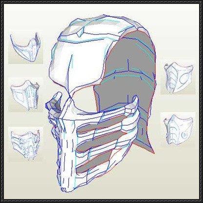 Mortal Kombat Mask Template Papercraftsquare New Paper Craft Mortal Kombat 9