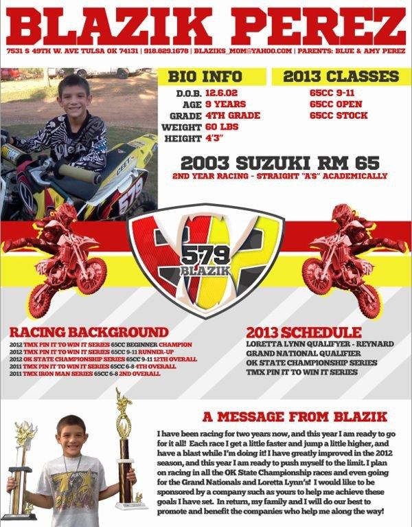 Motocross Sponsorship Resume Template Motocross Sponsorship Mxm Nation Motox