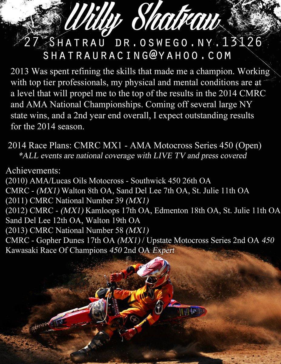 Motocross Sponsorship Resume Template Sponsor Resume Help Non Moto Motocross forums