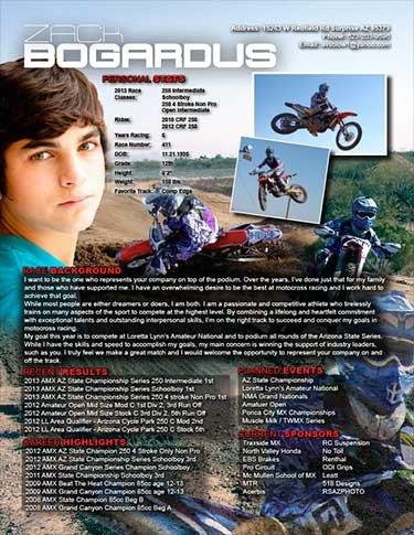 Motocross Sponsorship Resume Template Sponsorship Resume Samples